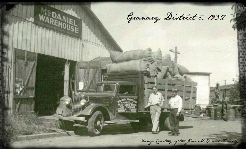 granary district circa 1932